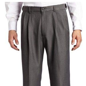 Haggar Mens Cool Hidden Expand-Waist Pleated 34x32